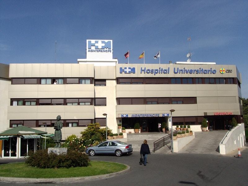 hospitalización en montepríncipe hospital